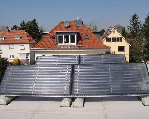 Solaranlage Flachdach